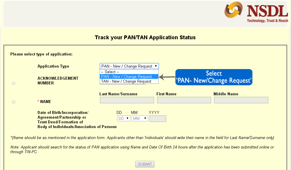 how to track pan card status online  mytaxcafe helpguide